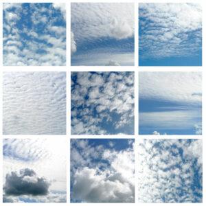 Foto-collage wolken